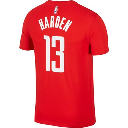 ddfe0f83 ... Nike Men's Houston Rockets James Harden 13 Name and Number T-shirt.  Rockets Clothing. Hover/Click to enlarge