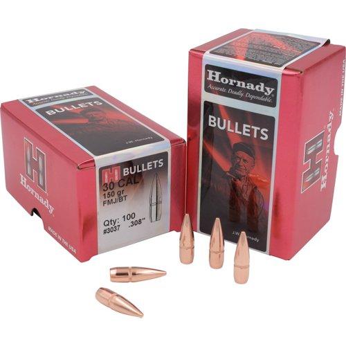 Hornady FMJ-BT .30 Caliber 150-Grain Bullets