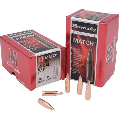 Hornady BTHP .30 Caliber 168-Grain Bullets