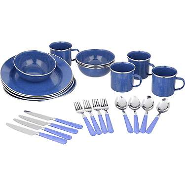Magellan Deluxe Enamel Tableware 24-Piece Set