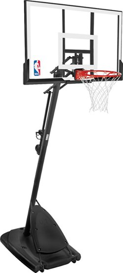 Spalding Angled 54 in Portable Acrylic Basketball Hoop