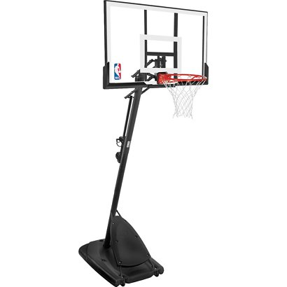Spalding Angled 54 in Portable Acrylic Basketball Hoop  762542a17