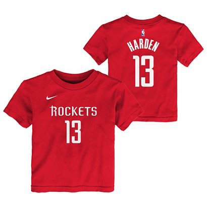 28062f2a936 ... Nike Toddlers  Houston Rockets James Harden 13 Icon T-shirt. Rockets  Clothing. Hover Click to enlarge