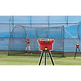Heater Sports Crusher Mini Lite-Ball Pitching Machine and 12 ft Home Run Batting Cage Combo