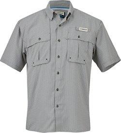 Magellan Outdoors Men's Aransas Pass Short Sleeve Gingham Fishing Shirt