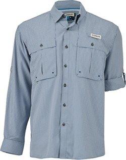 Magellan Outdoors Men's Aransas Pass Long Sleeve Gingham Fishing Shirt