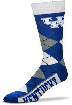For Bare Feet Unisex University of Kentucky Team Pride Flag Top Dress Socks