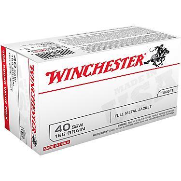 Winchester USA FMJ  40 Smith & Wesson 165 -Grain 100-round Handgun  Ammunition