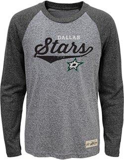 adidas Boys' Dallas Stars Hockey Roots Triblend Long-Sleeve T-shirt