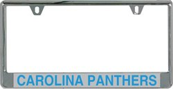 Stockdale Carolina Panthers Mirrored License Plate Frame