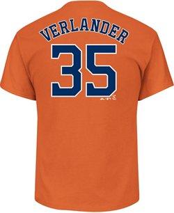 Majestic Men's Astros Verlander Official Name & Number T-Shirt