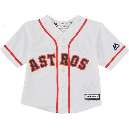 finest selection 046b3 57dd7 MLB Boys' Houston Astros Carlos Correa 1 COOL BASE Home Replica Jersey