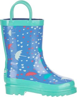 Toddler Girls' Rubber Umbrella Boots