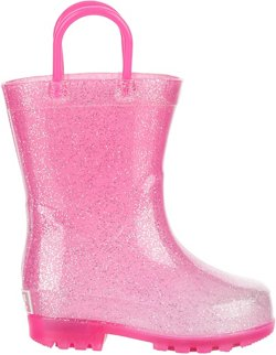 Austin Trading Co. Toddler Girls' Lighted PVC Glitter Boots