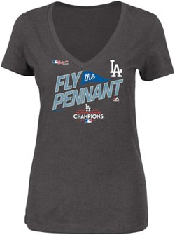 Majestic Women's Dodgers National League Champs Locker Room T-Shirt