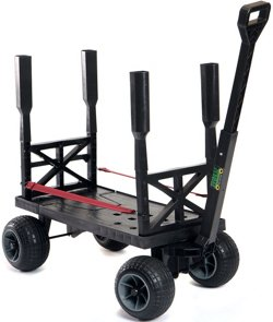 Mighty Max Plus One Surf Fishing Cart Wagon with Wheels