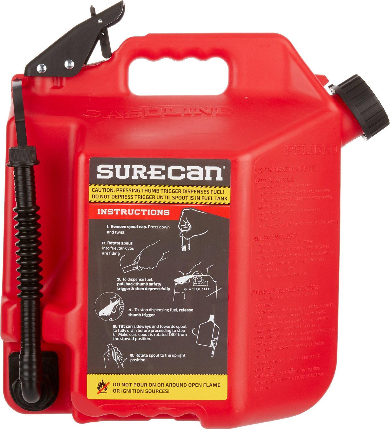 Safety Gas Can >> Surecan 5 Gal Gas Can