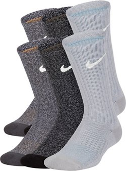 Boys' Performance Cushioned Crew Marled Training Socks 6 Pack