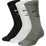 Nike Boys' Performance Cushioned Crew Wordmark Training Socks 3 Pack