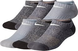 Boys' Performance Cushioned No-Show Marled Training Socks 6 Pack