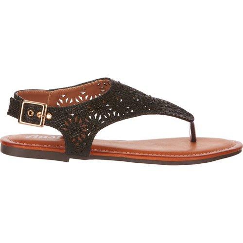 Austin Trading Co. Women's Glitter Chop Out Thong Sandals