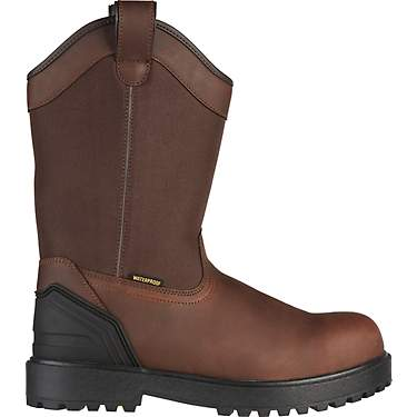 Brazos Men's Ironmite 3.0 Steel Toe Wellington Work Boots