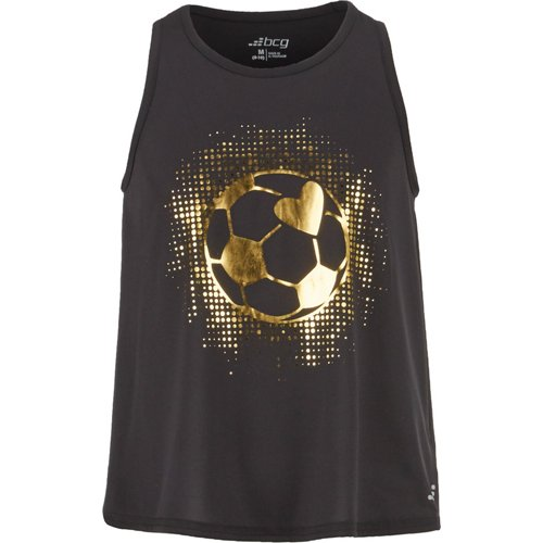 BCG Girls' Gold Foil Soccer Tank Top