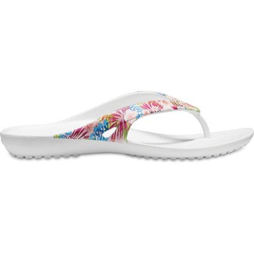 Crocs Women's Kadee II Flower Strap Flip-Flops