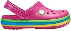 Kids' Crocband Rainbow Band Clogs