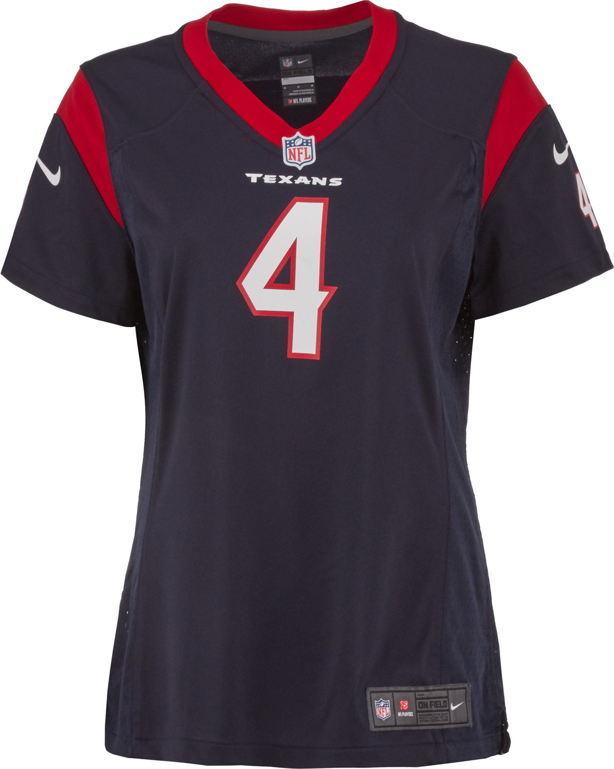 Cheap Nike Women's Houston Texans Deshaun Watson 4 Game Jersey | Academy  supplier