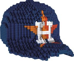 Forever Collectibles Houston Astros BRXLZ 3-D Mini Baseball Cap Puzzle