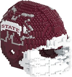 Forever Collectibles Mississippi State University 3-D BRXLZ Helmet Puzzle