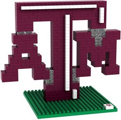 Forever Collectibles Texas A&M University 3-D BRXLZ Logo Puzzle