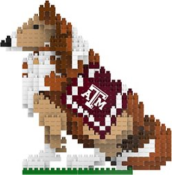 Forever Collectibles Texas A&M University 3-D BRXLZ Mascot Puzzle