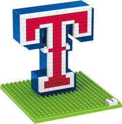 Forever Collectibles Texas Rangers 3-D BRXLZ Logo Puzzle