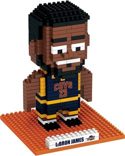 Forever Collectibles Cleveland Cavaliers LeBron James BRXLZ 3-D Player Puzzle