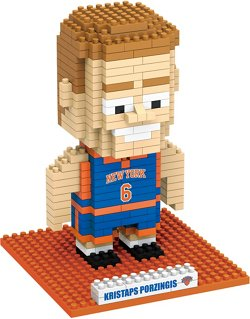 Forever Collectibles New York Knicks Kristaps Porzingis BRXLZ 3-D Player Puzzle