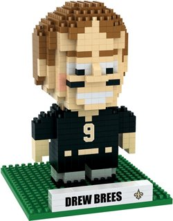 Forever Collectibles New Orleans Saints Drew Brees BRXLZ 3-D Player Puzzle