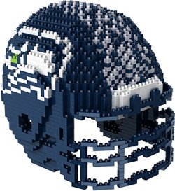 Forever Collectibles Seattle Seahawks 3-D BRXLZ Helmet Puzzle