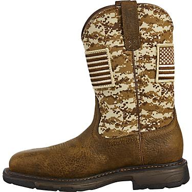 1140c450b30 Ariat Men's WorkHog Patriot Camo Safety Toe Wellington Work Boots