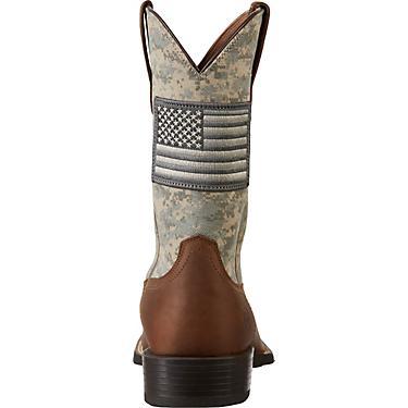 50bcfca4616 Ariat Men's Sport Patriot Camo Western Boots
