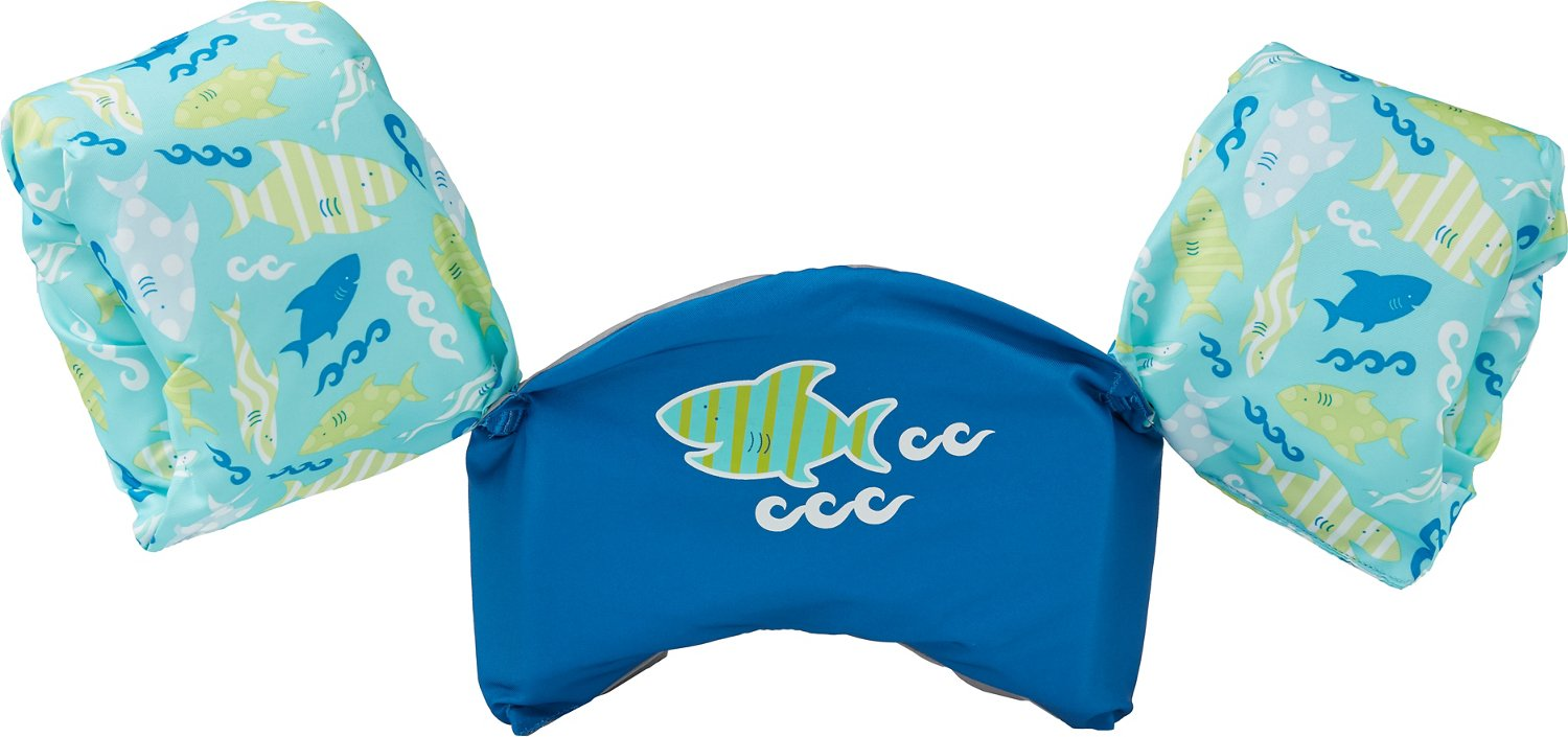 Display product reviews for SwimWays Kids' Sea Squirts Swim Trainer Shark Life Jacket