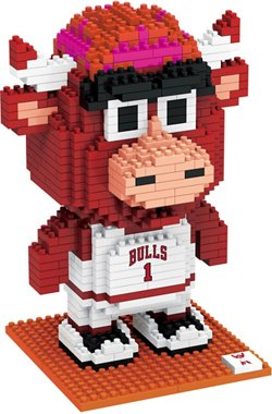 Forever Collectibles Chicago Bulls BRXLZ 3-D Mascot Puzzle