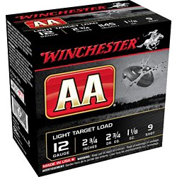 AA Light Target Load 12 Gauge 9 Shotshells