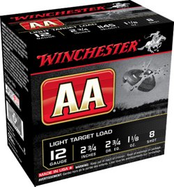 Winchester AA Light Target Load 12 Gauge 8 Shotshells