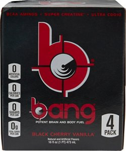 VPX Bang RTD Flavored Sports Energy Drink 4-Pack