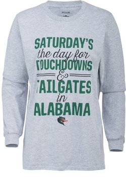 Three Squared Women's University of Alabama at Birmingham Touchdowns and Tailgates T-shirt