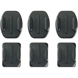 Curved and Flat Adhesive Mounts 6-Pack