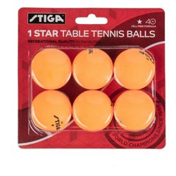 1-Star Table Tennis Balls 6-Pack