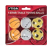 Stiga 1-Star Sport Table Tennis Balls 6-Pack